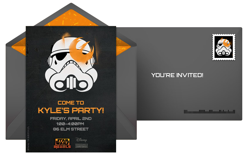 disney star wars rebels free online invitation