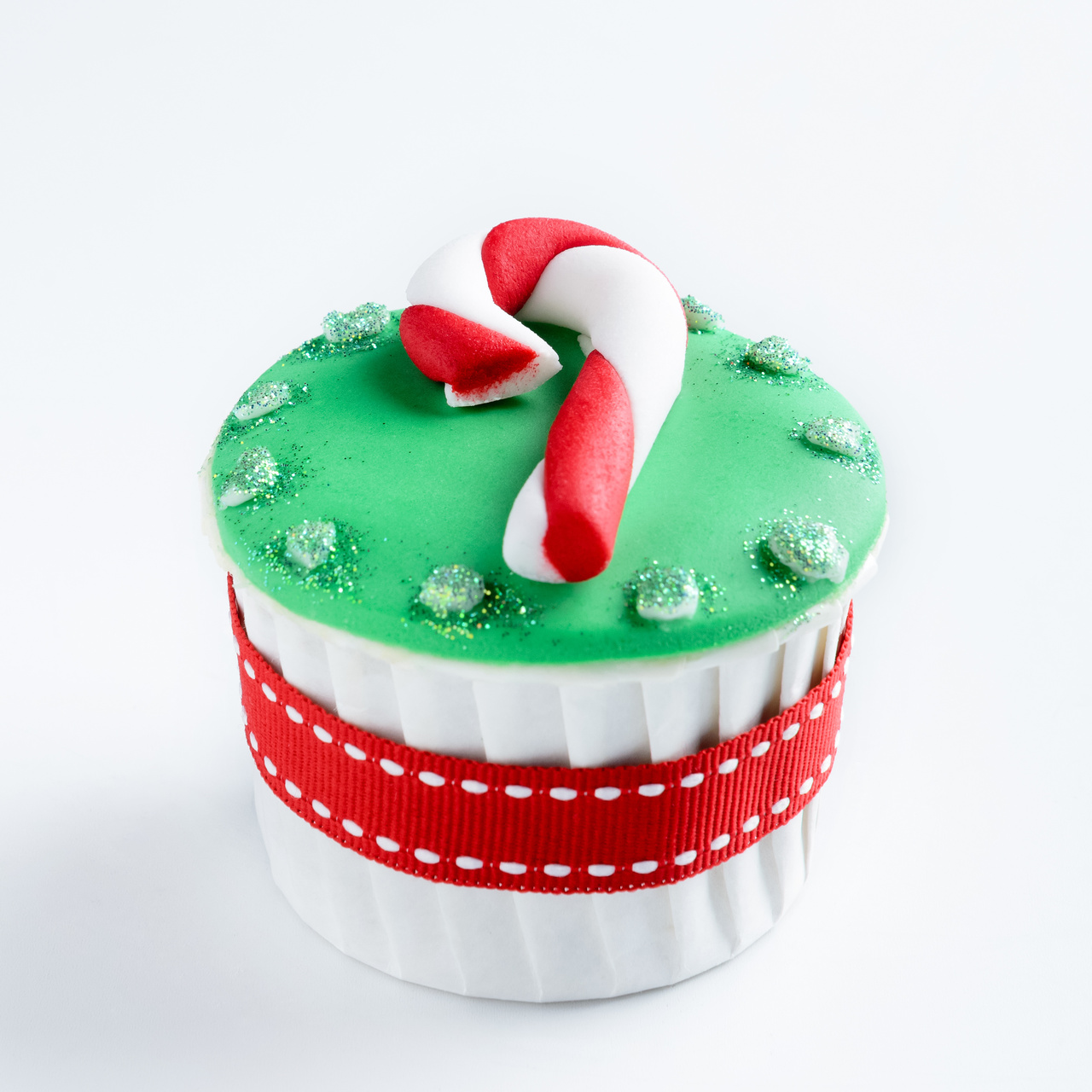 Candy Cane Cupcake decoration