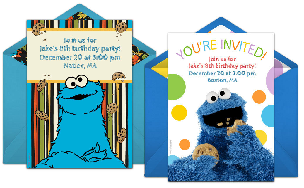 Free Cookie Monster Online Invitations