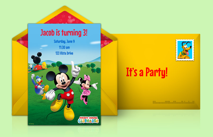 Mickey Mouse Clubhouse Invitation Template is nice invitation sample