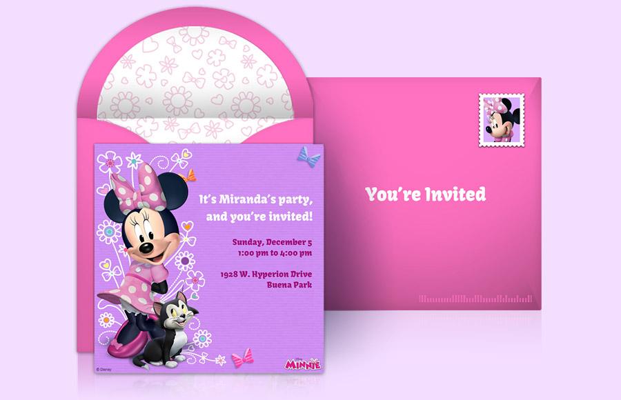 Minnie Mouse Blank Invitation Template Delli Beriberi Co