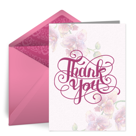 free thank you notes, thank you ecards, greeting cards, thank you, Birthday card