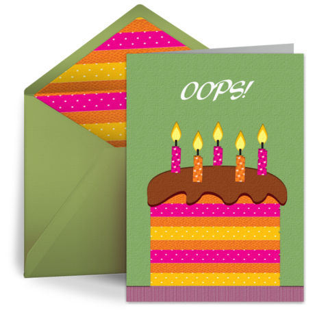 belated birthday cards, free belated ecards, greeting cards, Greeting card