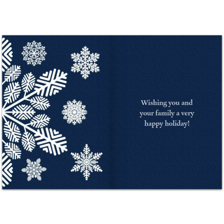 Navy blue season39s greetings business christmas card for Electronic holiday cards for business