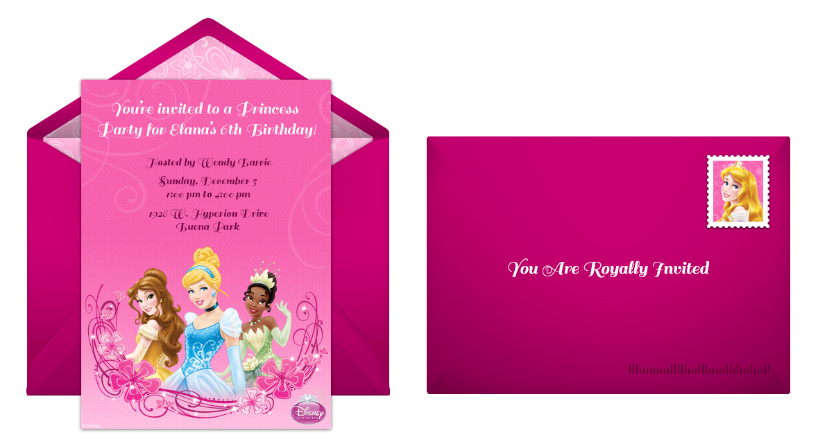 Disney Princess online invitation