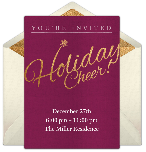 free holiday online invitation