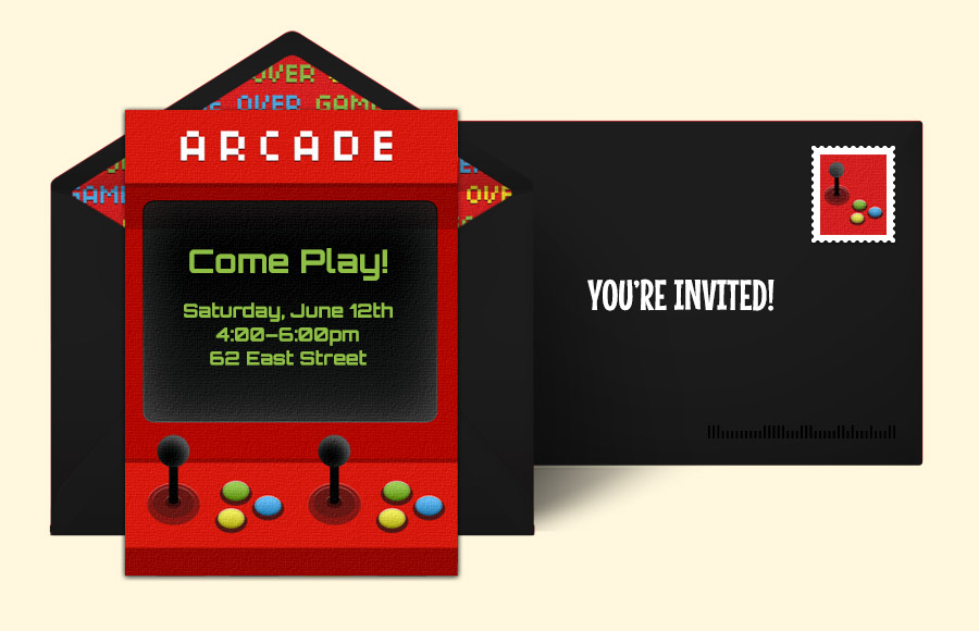 Free Game Night Invitations Game Night Online Invitations – Arcade Party Invitations