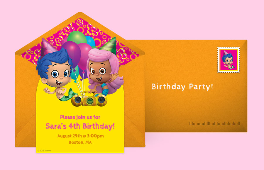 Free Bubble Guppies Invitations, Bubble Guppies Online Invitations ...