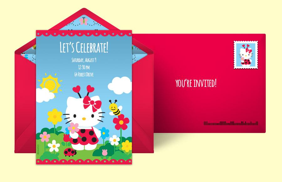 Free Hello Kitty Invitations Hello Kitty Online Invitations – Birthday Online Invitations