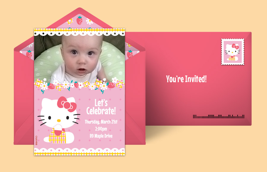 Free Hello Kitty Invitations Hello Kitty Online Invitations