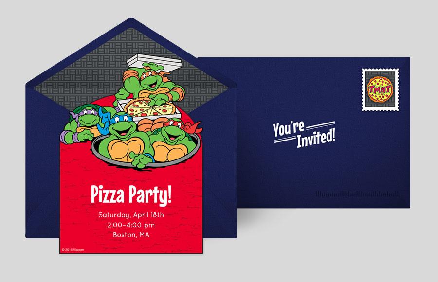 Free Ninja Turtles Invitations Teenage Mutant Ninja Turtles