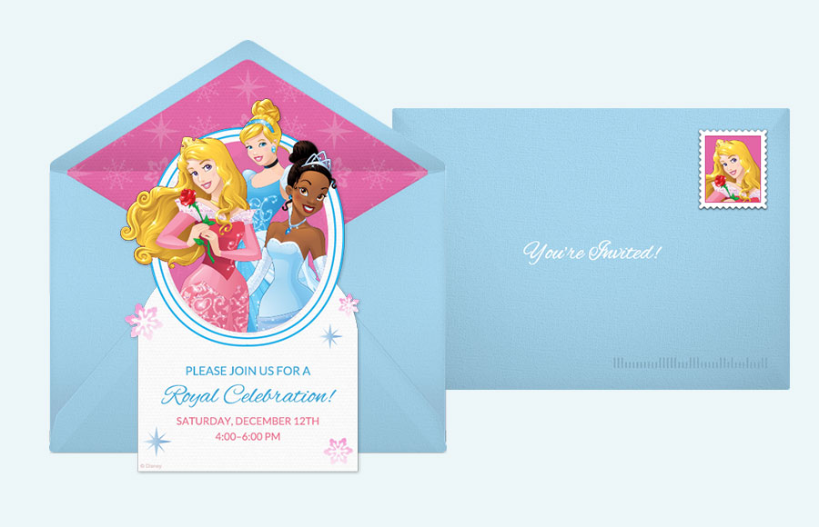 disney princess party invitations – gangcraft, Birthday invitations