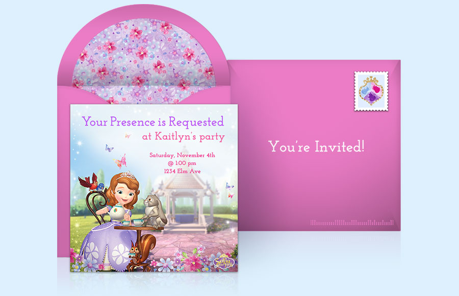 Disney Princess Party Invitations gangcraftnet