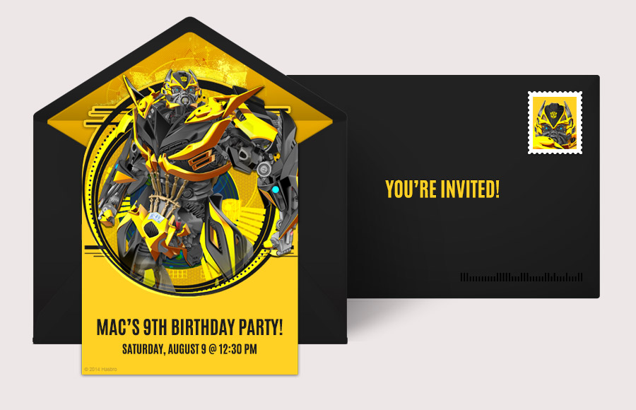 Free Transformers Invitations Transformers Online Invitations – Free Printable Transformers Birthday Invitations